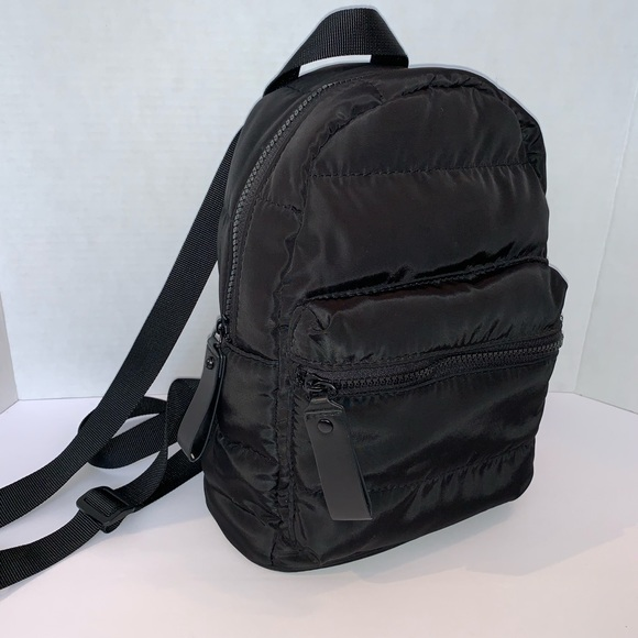 ded7ee443f9 Black Nylon Quilted Mini Backpack